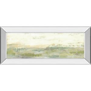 """Greenery Horizon Line I"" By Jennifer Goldberger Mirror Framed Print Wall Art"