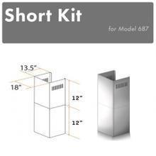 "See Details - ZLINE 2-12"" Short Chimney Pieces for 8 ft. Ceilings (SK-687)"