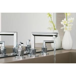 Arris brushed nickel two-handle bathroom faucet