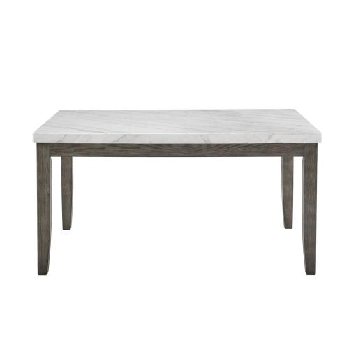 Emily White Marble Top Dining Table