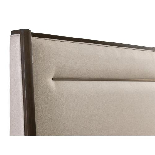 Monterey - Queen Upholstered Headboard - Mink Finish