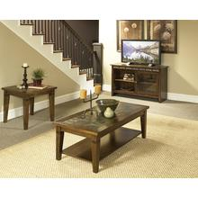 Oak & Slate Coffee & End Table Set