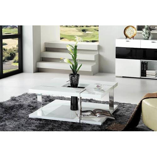 Modrest Glacier Modern White Coffee Table