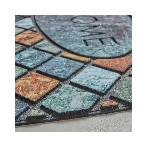 Mohawk - Tile Oval Welcome, Mineral Stone- Rectangle