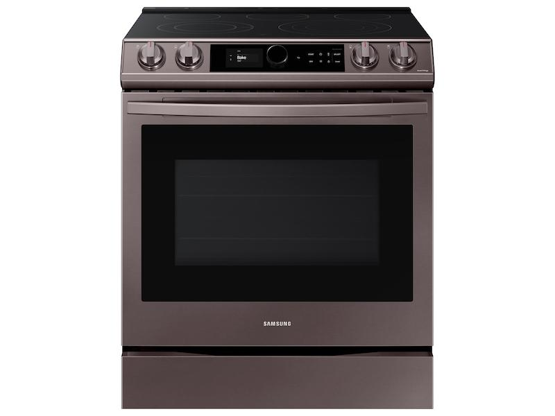 Samsung6.3 Cu Ft. Smart Slide-In Electric Range With Smart Dial & Air Fry In Tuscan Stainless Steel