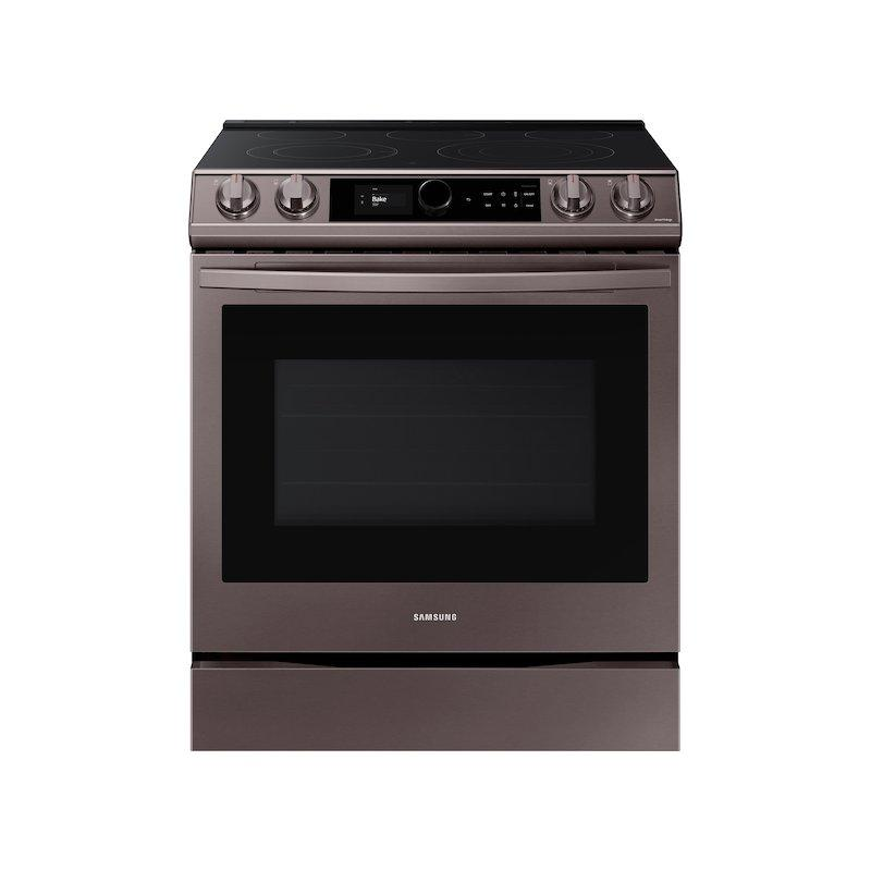 6.3 cu ft. Smart Slide-in Electric Range with Smart Dial & Air Fry in Tuscan Stainless Steel