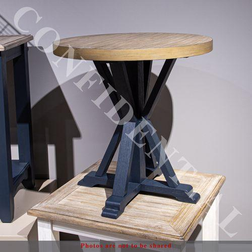Round End Table- Navy