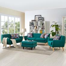 Remark 3 Piece Living Room Set in Teal