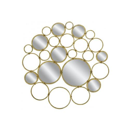 Classy Art - MH1077  Gold Circles With Some Mirrors