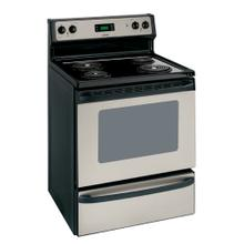 "REFURBISHED Hotpoint® 30"" Free-Standing Electric Range. (This is a Stock Photo, actual unit (s) appearance may contain cosmetic blemishes.  Please call store if you would like actual pictures).  This unit carries our 6 month warranty, MANUFACTURER WARRANTY and REBATE NOT VALID with this item. ISI 42074"
