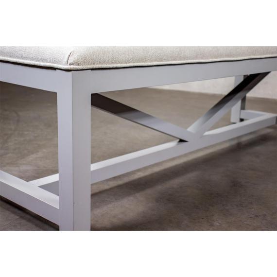 Riverside - Osborne - Upholstered Dining Bench - Gray Skies Finish