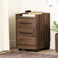 Helsy - 2-Drawer Mobile File Cabinet, Natural Walnut