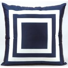 "Outdoor Pillows As551 Navy 20"" X 20"" Throw Pillow"