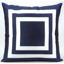 """Outdoor Pillows As551 Navy 20"""" X 20"""" Throw Pillow"""