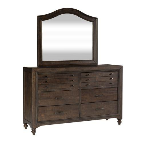 Liberty Furniture Industries - King Poster Bed, Dresser & Mirror