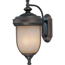 Outdoor Wall Lamp, Ant. RUST/L.AMB Glass, E12 Type B 60wx3