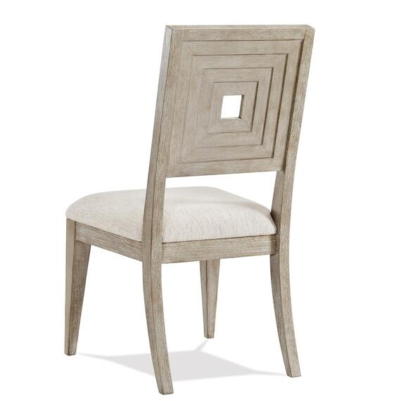 Riverside - Cascade - Upholstered Wood Back Side Chair - Dovetail Finish