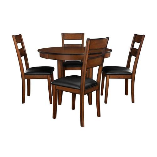 Standard Furniture - Pendwood Dining Table and Four Chairs Set, Brown Cherry
