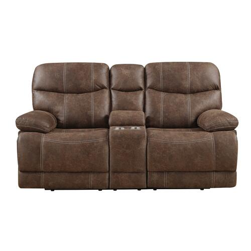 Emerald Home Furnishings - Reclining Console Loveseat