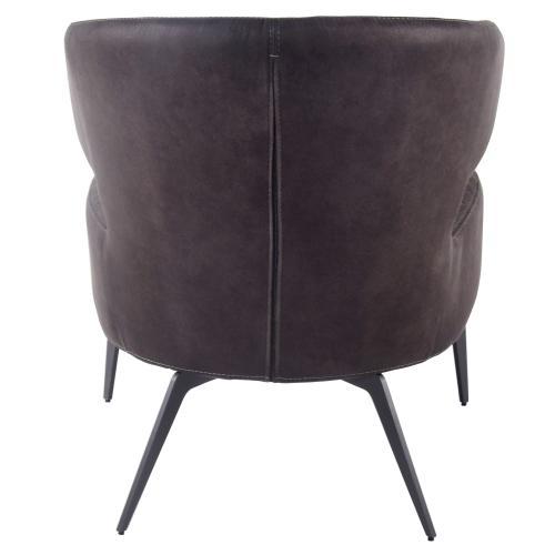 Bradley KD Fabric Accent Chair, Moonstone Hide Black