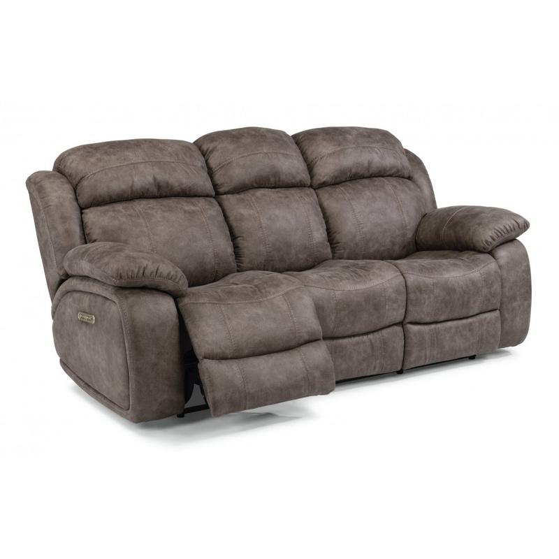 Como Power Reclining Sofa with Power Headrests
