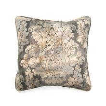 Toss Pillow with a Grey Brown Damask Pattern