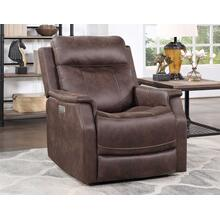 See Details - Valencia Dual-Power Leatherette Recliner, Walnut