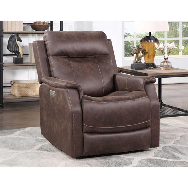 Valencia Dual-Power Leatherette Recliner, Walnut