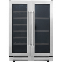 Thor Kitchen - 24 Inch Under Counter French Door Freestanding Independent Dual Zone Wine and Beverage Center