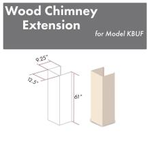 """View Product - ZLINE 61"""" Wooden Chimney Extension for Ceilings up to 12.5 ft. (KBUF-E)"""