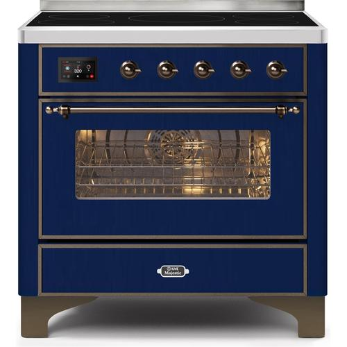 36 Inch Blue Electric Freestanding Range