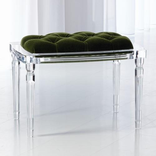 Marilyn Acrylic 4 Leg Bench-Emerald Green