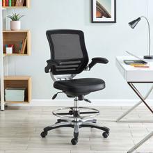 See Details - Edge Drafting Chair in Black