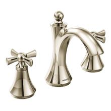 View Product - Wynford Polished nickel two-handle high arc bathroom faucet