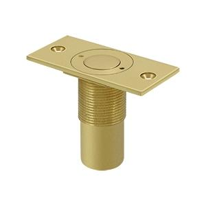 "Dust Proof Strike, Adjustable, 2-7/8"" x 1-3/8"" - Polished Brass"