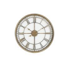See Details - 7105185 - Clock 67x6,5 cm LEWES rust brown