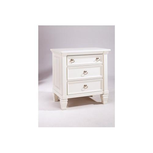 Prentice Three Drawer Night Stand White
