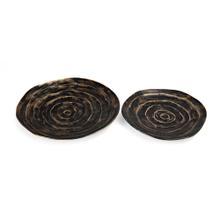 Leto Aluminum Decorative Bowls - Set of 2