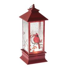 Lighted LED Shimmer Cardinal Lantern