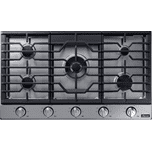 """DacorTransitional 36"""" Gas Cooktop, Silver Stainless Steel, Natural Gas/Liquid Propane"""