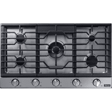 "Transitional 36"" Gas Cooktop, Silver Stainless Steel, Natural Gas/Liquid Propane"