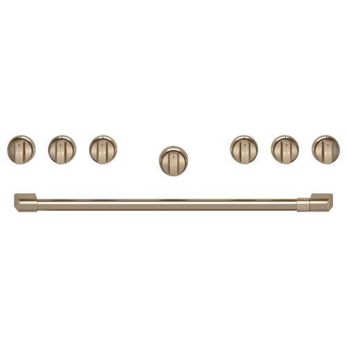 """Cafe - Café™ 36"""" Brushed Bronze Handle & Knob Set for Pro Range and Rangetop"""