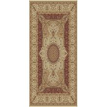 "Persian Design 1.5 Million Point Heatset Tabriz 3916 Area Rug by Rug Factory Plus - 5'4"" x 7'5"" / Cream"
