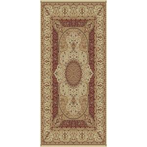 "Persian Design 1.5 Million Point Heatset Tabriz 3916 Area Rug by Rug Factory Plus - 5'4"" x 7'5"" / Cream"