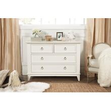 Warm White Emma Regency 4-Drawer Assembled Dresser