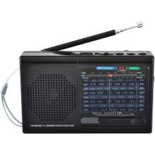 9-Band Rechargeable Bluetooth® Radio with USB/SD Card Input (Black)