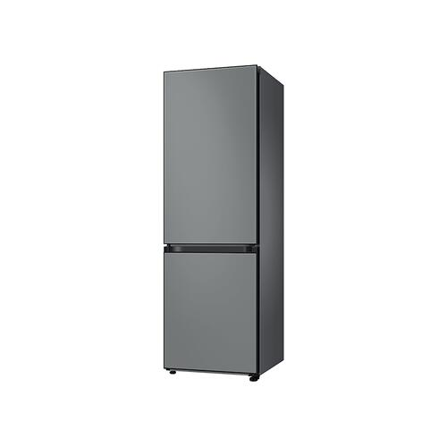 Samsung - 12.0 cu. ft. BESPOKE Bottom Freezer refrigerator with customizable colors and flexible design in Grey Glass