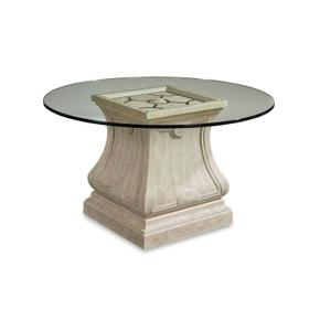 "Arch Salvage Leoni Round Dining with 60"" Glass Top"