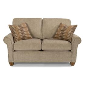 Christine Fabric Loveseat with Nailhead Trim