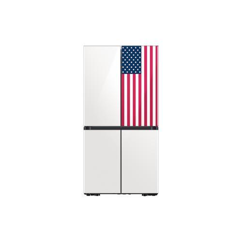Samsung - 23 cu. ft. Smart Counter Depth BESPOKE 4-Door Flex Refrigerator featuring a Limited Edition Design